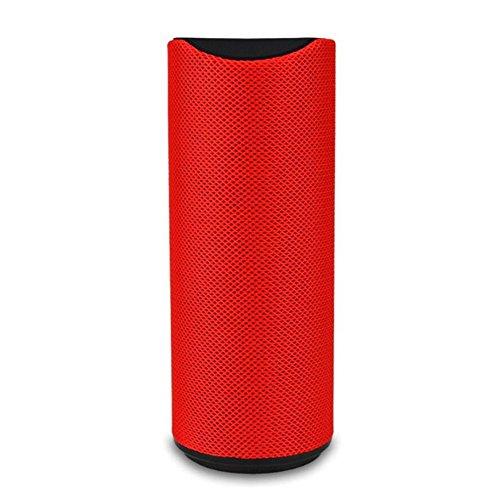 Bluetooth-Lautsprecher Wireless Subwoofer Mini Bluetooth Audio Karte im Freien Lautsprecher, Red