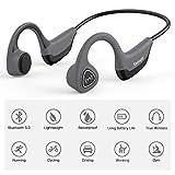 Tayogo S2 Auriculares Bluetooth de conducción ósea, Inalámbricos Auriculares Bluetooth Orejas Libres (Open-Ear) HI-FI Estéreo con Micrófono Auriculares Deportivos ABS para Android iOS