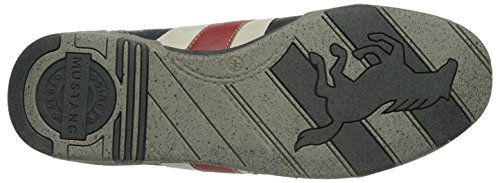 Mustang Mens 4007-317 Low-top Black (95 Nero / Rosso)