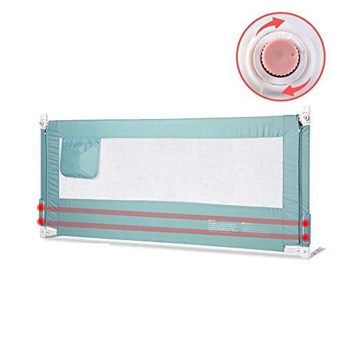 Barrières de lit- Protection de Chute de bébé de rambarde de lit, lit Universel de Rail de côté de lit des Enfants d'ascenseur Vertical (Couleur : Bleu, Taille : 1.8M)