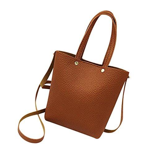 Damen Kleine Umhängetasche - Crossbody Bag mit Kette Schulterriemen - PU Leder Schultertasche - Messenger Handtasche mit Reißverschluss - Abendtasche City Clutch Party - Rosa -