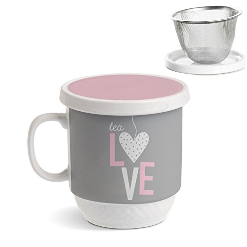Tazza Tisaniera Filtro Metal Tea Love