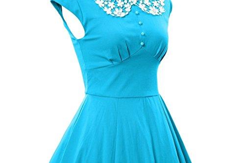 ... Eyekepper Frauen Noble Vintage Audrey Hepburn Stil 1940's Rockabilly  Abendkleid Sky Blau ...