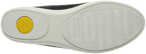 Pompe Slip-on Fitflop Damen Superskate, Nero / Urbano Bianco Schwarz (schwarz)