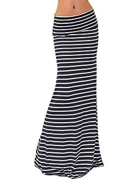 Faldas Mujer Largas Cintura Alta Slim Fit Elegantes Vintage Classic Rayas Moda Casual Falda Larga Falda Tubo