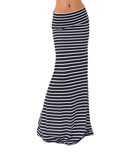 Gonna tubino donna gonna vita alta lunga slim fit pacchetto hip elegante semplice glamorous classico a righe moda gonne lunghe gonna (color : nero, size : s)