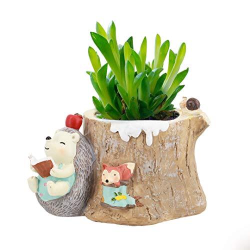 macinta Kunstharz Crafts Keramik Sukkulente Töpfen Cartoon Dekorative Blumentöpfe Pflanzgefäßen Container One size Stil 2 (Dem Buch Boot Frisch Aus)