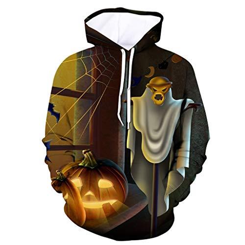 Unisex Hoodie Long Sleeve Kapuzenpullover 3D Druck Sweatshirt Pullover ☆Elecenty☆ Sweatshirts Halloween mit Aufdruck Herbst Winter Hemd Langarm Top Jumper Shirt Bluse Outwear Mäntel -