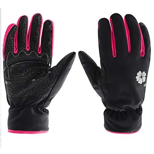 SCSY-Handschuhe und Fäustlinge 1 Paar, Regenmantel wärmste Winter Schnee Handschuhe für Damen, Ski Handschuhe (Color : Red, Size : M) Warmest Mitt