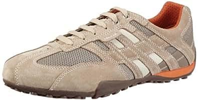 Geox U SNAKE ART.M U1107M02214C0845, Herren Sneaker, Beige (BEIGE/DK ORANGE C0845), EU 39