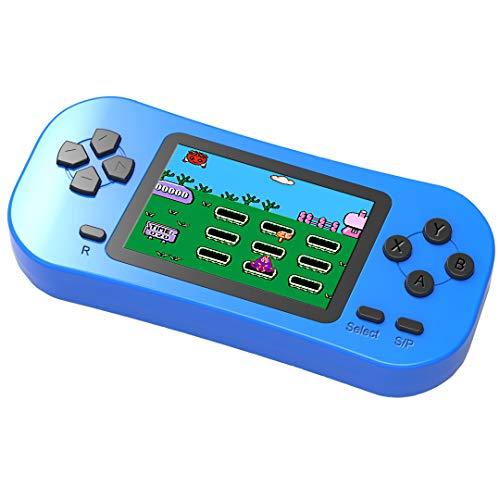 Bornkid Console di Gioco Portatile per Bambini Precaricata con 218 Videogiochi Classici Sistema Arcade Ricaricabile con Display 2,5 Pollici e 3,5 mm per Cuffie Controller di Gioco (Blu)
