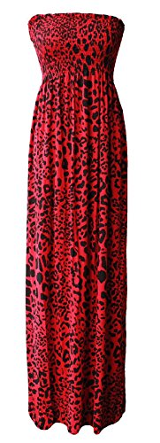 Comfiestyle - Robe - Cocktail - Sans Manche - Femme Red Leopard