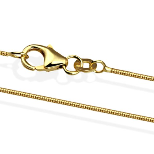 Goldmaid Unisex Schlangenkette 585 Gold 45 cm Stärke 1.3 mm