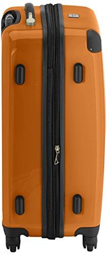 HAUPTSTADTKOFFER - Alex - 2er Koffer-Set Hartschale glänzend, 65 cm + 55 cm, 74 Liter + 42 Liter, Graphit-Blau Weiß-Orange