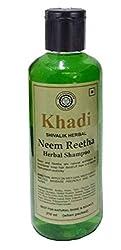 Khadi herbal Neem Reetha herbal shampoo 210ml