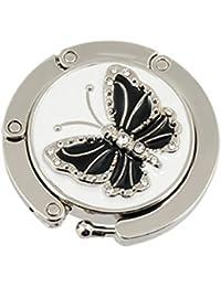 exsiveme mariposa soporte plegable bolso de mano bolso Tabla gancho (negro)