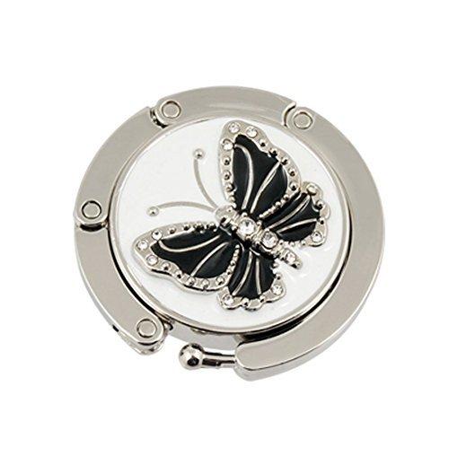 landsell Butterfly Faltbare Handtasche Aufhänger Halterung Tisch Haken (schwarz) -