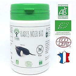 Radis noir bio | 60 gélules | Complément alimentaire | Détox foie Cholestérol Digestion | Bioptimal - nutrition naturelle | Fabriqué en France | Certifié par Ecocert | Satisfait ou Remboursé 30 jours