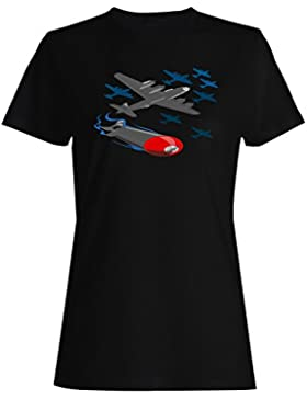 Avión, plano, regalo, piloto, divertido, novedad camiseta de las mujeres d783f