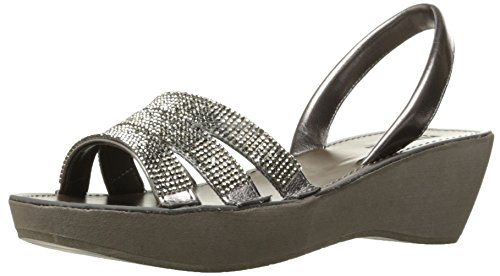 Kenneth Cole Reaction Womens Fine Jewel Platform Wedge Slingback Jeweled Sandal