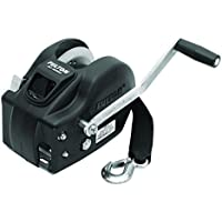 Fulton Trailer 2-Speed Winch, 2600-Pound with 20-Feet Strap, Black Cover by Fulton