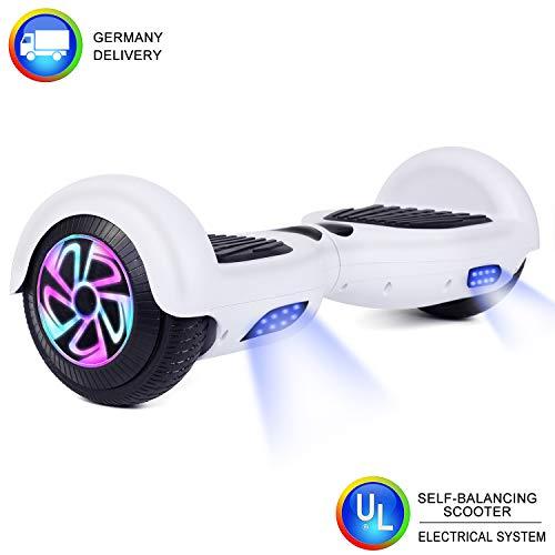 """CBD 2 Räder 6.5""""Hoverboard Pour Enfants et adultes, Scooter électrique à équilibrage automatique Avec sac de Transport gratuit et chargeur européen(Weiß)"""