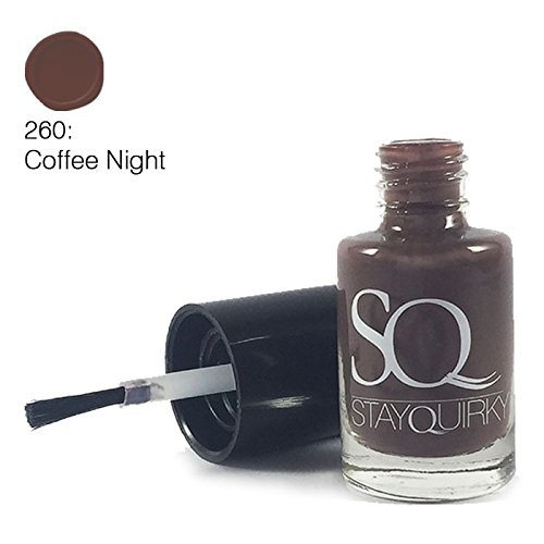Stay Quirky Nail Polish, Brown Coffee Night 260, 6ml