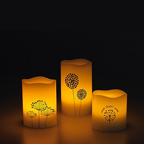 Set velas LED (3unidades, olor a vainilla)