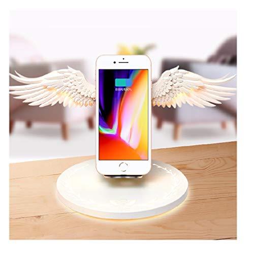 QHJ Fast Wireless Charger, Qi Ladegerät für iPhone XS/XS Max/XR/X, Angel Wings Wireless Ladestation Dock QI Fast Charging Wireless Nützlicher Ständer für Samsung Galaxy S10 S10+ S10e (A) -