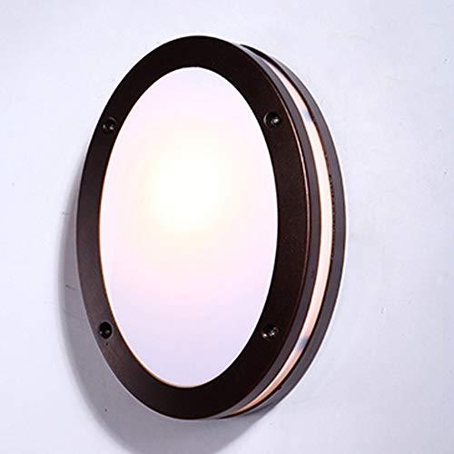 Runde Outdoor Wasserdichte LED Wandleuchte Braun PMMA Hohe Lichtdurchlässigkeit Lampenschirm Glas Lampenschirm Wandleuchte Persönlichkeit Kreative Retro Villa Garten Gang Treppe Lampe Balkon Wandleuch