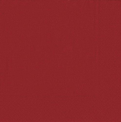 Caspari Cocktail-Servietten dreilagig, Grosgrain Red, 20 Stück, 25 x 25 cm