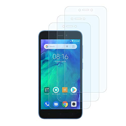 FMPC [3-Pack Protector Pantalla Xiaomi Redmi Go, Cristal Vidrio Templado Premium, [2.5D Borde Redondo] [9H Dureza] [Alta Definicion] para Xiaomi Redmi Go