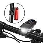 Ozvavzk-Luci-per-Bicicletta-USB-Ricaricabili-Luci-Bicicletta-5-modalit-Intelligente-Luce-Bici-Anteriore-e-Posteriore-LED-Set-per-Autisti-notturni-Ciclismo-e-Campeggio