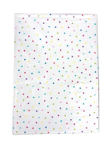 JaBaDaBaDo Nappe lavable pour table de fête de 180 x 130 cm blanche avec motif de pois en couleurs