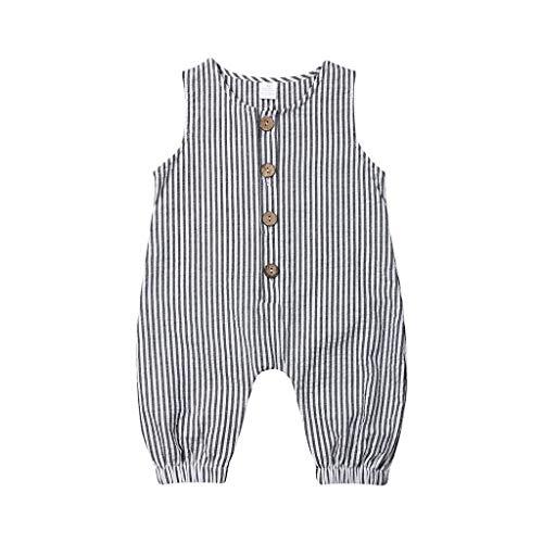 Watopi Neonato Tutine Unisex Neonata Body Cotone Senza Cotone I Pantaloni Autunno Super Confortevole Strisce Pagliaccetto Abbigliamento Colore della Caramella Bambino Manica da 0-24 Mesi