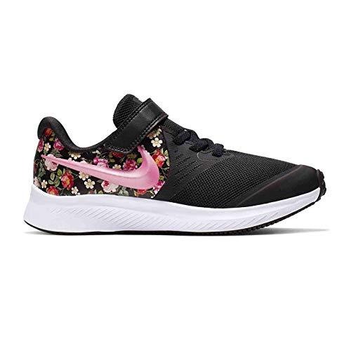 Nike Mädchen Star Runner 2 VF (PSV) Sneaker, Schwarz (Black/Pink Tint-Pale Ivory 001), 34 EU -