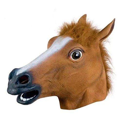 Samgoo Halloween Horror HORSE HEAD Vinyl Karneval (Mann Halloween Kostüm Puppet)