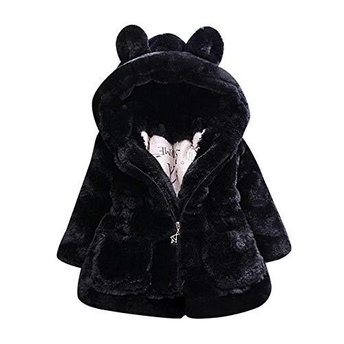 Beladla Neonata Finta Pelliccia Giacca Mantello Mantello Cape Ragazza Giacche con Cappuccio Animale Mantello del Cappotto di Inverno Vestiti Caldi Spessi Abbigliamento