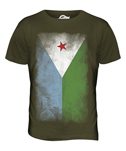 CandyMix Dschibuti Verblichen Flagge Herren T Shirt Khaki Grün