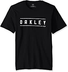 Oakley Mens Double Stack T-Shirt, Blackout, M