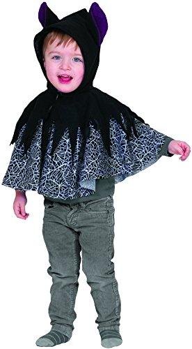 Fancy Ole - Jungen Boy Baby-Cape Karneval Halloween Superheld, Kinder Fledermaus-Umhang, Onesize, 1-3 Jahre, ()