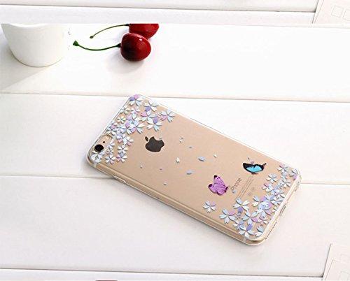 iPhone SE Case, Bonice iPhone 5S Custodia, Trasparente Ultra Slim Thin Morbido Crystal Clear Cover + 1x Protezione Schermo Screen – ghiacciolo Model 7