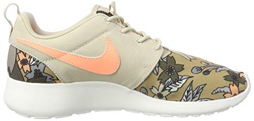 Nike  WMNS NIKE ROSHE ONE PRINT PREM, Sneakers basses femmes Beige - (281 RATTAN/SUNSET GLOW-SAIL)