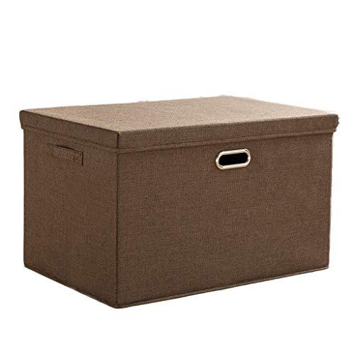 YShop Aufbewahrungsboxen mit Deckel und Griff, Faltbare Würfel Aufbewahrungsbox Behälter Schubladen Aufbewahrungskorb for Schränke, Zuhause, Schränke, Büro (Color : Brown, Size : Large) (Oxford Trainingshose)