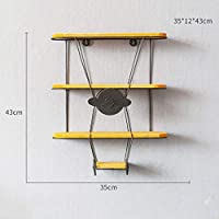 FuweiEncore Shelf LOFT Wall Mount Cube Shelf for Bedroom bookshelf Simple iron Airplane style Separator Floating unit frame Wall decoration Design retro industrial style Shelf (Size : B)