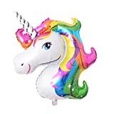 Livecity Unicorn Rainbow Color Foil Balloon Children Birthday Party Festival Room Decor Kids toys