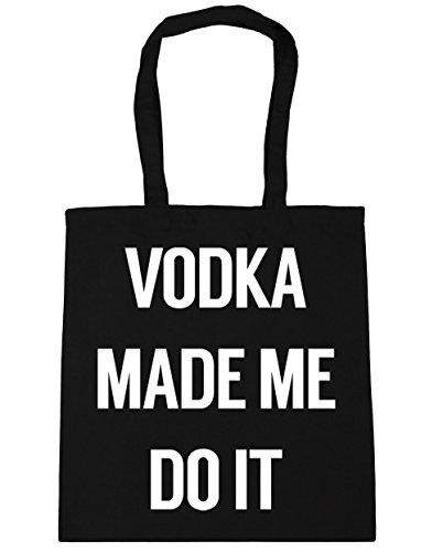 HippoWarehouse Vodka Made Me Do It Bolso de Playa Bolsa Compra Con Asas para gimnasio 42cm x 38cm 10 litros capacidad