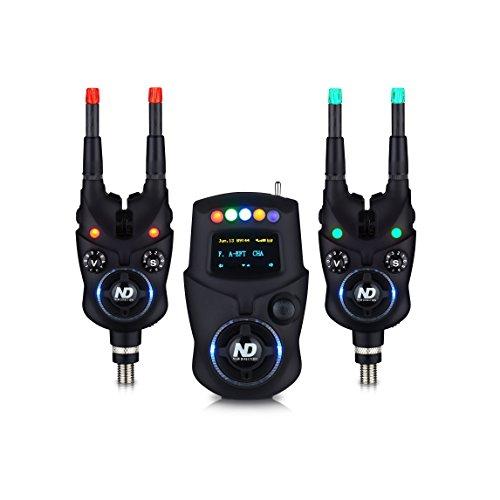New Direction K9 Bluetooth Bissanzeiger Set (2x K9, 1x R9 Mini-Receiver, 1x Plastikbox, 4x Leuchten (R,G))