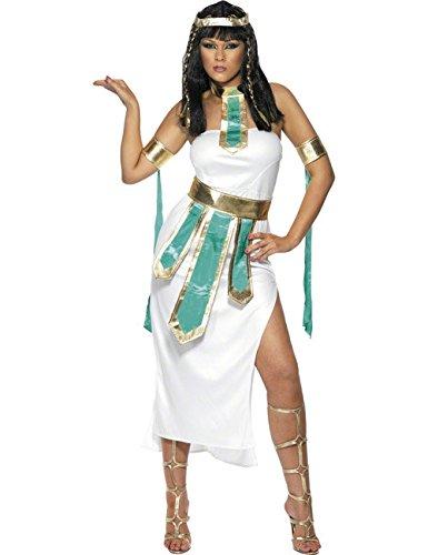 Pharaonin Cleopatra Ägypterin Antike Damenkostüm türkis weiss gold S