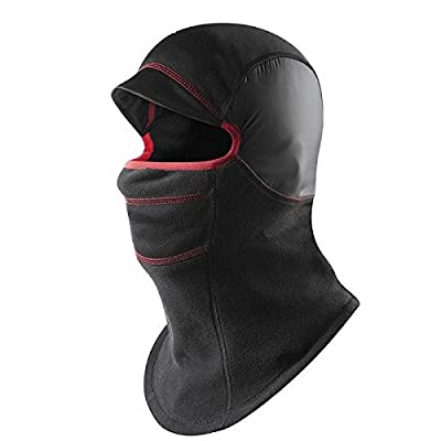 ADAALEN Doppelschichten verdicken Warm volles Gesichts Abdeckungs Skimütze Unisex Motorrad Fleece CS Hut